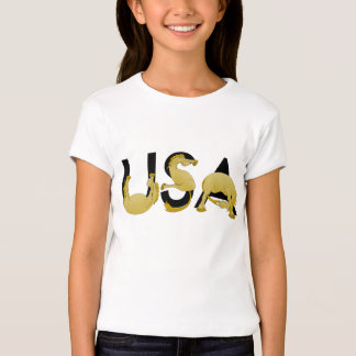 USA written in  ponies T-Shirt