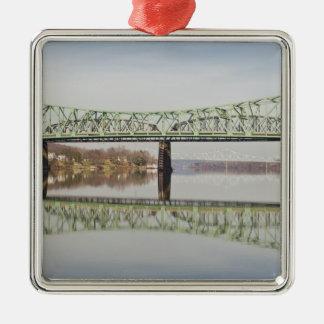 USA, WV, Parkersburg. Parkersburg-Belpre Metal Ornament