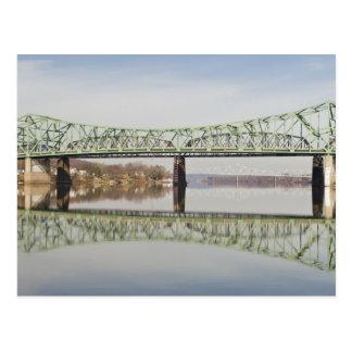 USA, WV, Parkersburg. Parkersburg-Belpre Postcard