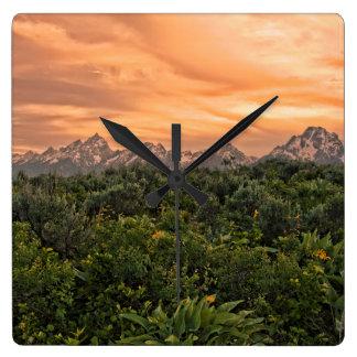 USA, Wyoming, Grand Teton National Park 1 Square Wall Clock