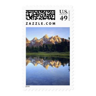 USA, Wyoming, Grand Teton National Park. Grand Postage Stamp