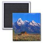 USA, Wyoming, Grand Teton National Park, Morning 2 Inch Square Magnet