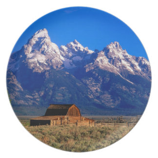 USA, Wyoming, Grand Teton National Park, Morning Melamine Plate