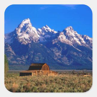 USA, Wyoming, Grand Teton National Park, Morning Square Sticker