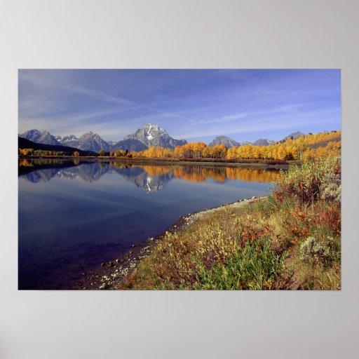 USA, Wyoming, Grand Teton National Park. Mt. 2 Poster