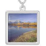 USA, Wyoming, Grand Teton National Park. Mt. 2 Square Pendant Necklace