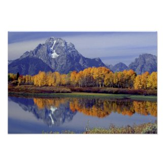 USA, Wyoming, Grand Teton National Park. Mt. Poster