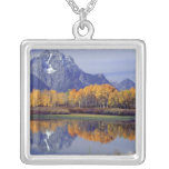 USA, Wyoming, Grand Teton National Park. Mt. Square Pendant Necklace