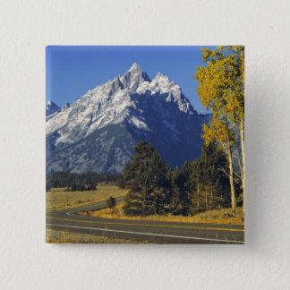 USA, Wyoming, Grand Teton NP. Teton Parkway Pinback Button