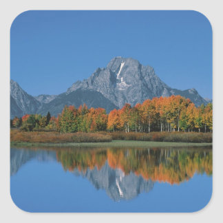 USA, Wyoming, Grand Tetons National Park in 4 Square Sticker