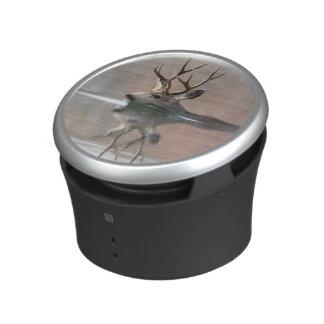 USA, Wyoming, Mule Deer buck swimming lake Bluetooth Speaker