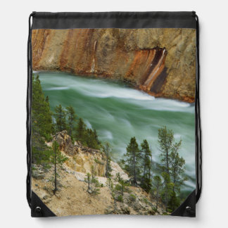 USA, Wyoming, Yellowstone National Park Drawstring Bag