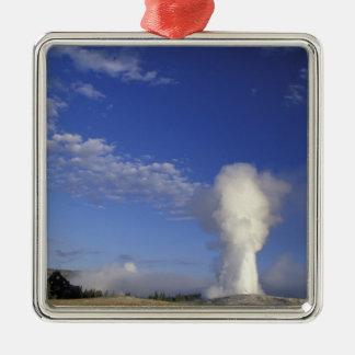 USA, Wyoming. Yellowstone National Park. Old Square Metal Christmas Ornament