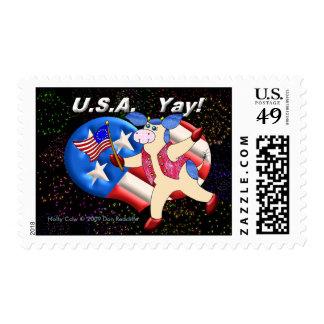 USA Yay! Postage Stamps