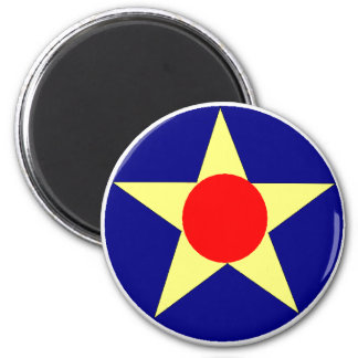 USAAC 2 INCH ROUND MAGNET