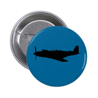 USAAF P-51 Mustang Silhouette Button
