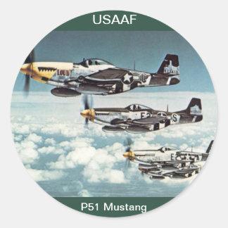 USAAF P-51 Mustang Sticker