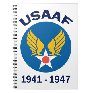 USAAF Years Active Notebook