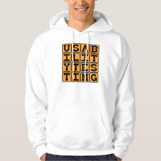 Usability Testing, Beta Stage Testing Hooded Pullover