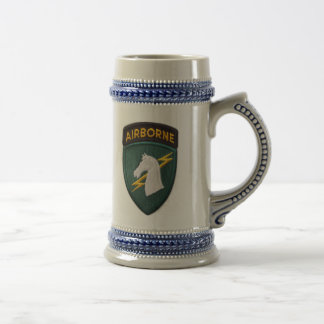 USACAPOC 1st Special Ops patch stein cup 18 Oz Beer Stein