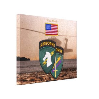USACAPOC 1st Special Ops veterans vets patch Canvas Print