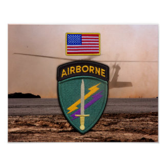 USACAPOC(A) 1st Special Ops Vets Patch Poster