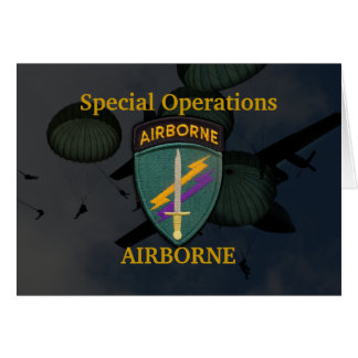 USACAPOC special ops civil affairs patch card Note Card