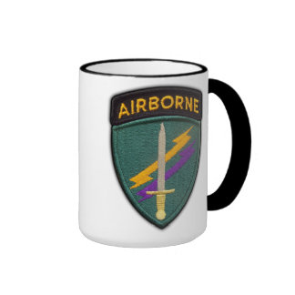 USACAPOC Special Ops patch Cup Ringer Coffee Mug