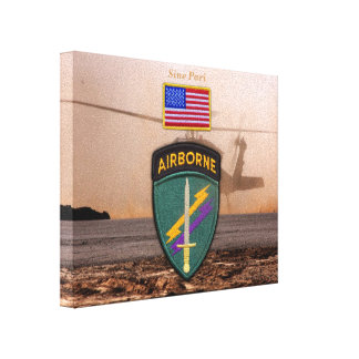 USACAPOC Special Ops veterans vets patch Canvas Print