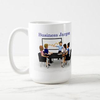 Usada jerga del negocio taza de café