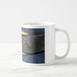 Usadas correa de cuero y hebilla taza