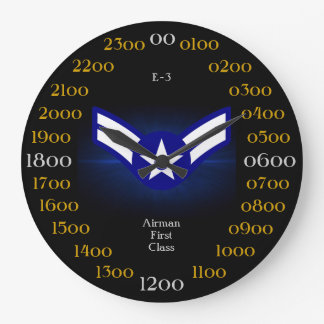 USAF /Airman First Class E-3 Large Clock