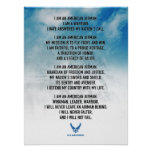 USAF Airman's Creed Poster