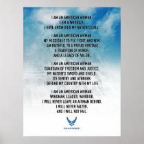 USAF Airman's Creed Poster