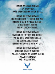 Airman creed gifts on zazzle usaf airmans creed poster altavistaventures Images