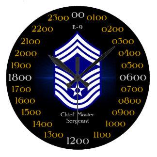 USAF Chief Master Sergeant E-9 Round Clocks