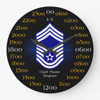 USAF / Chief Master Sergeant E-9 Large Clock
