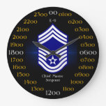 USAF / Chief Master Sergeant E-9 Wall Clock