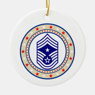 USAF Command Chief Master Sergeant E-9 CCM Sgt Ceramic Ornament