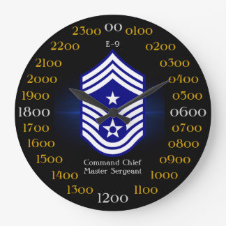 USAF / Command Chief Master Sergeant  E-9 Large Clock