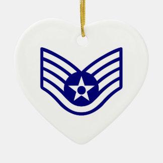 USAF E-5 STAFF SERGEANT CERAMIC ORNAMENT