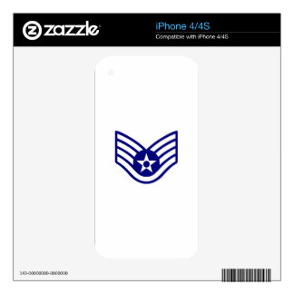 USAF E-5 STAFF SERGEANT DECALS FOR THE iPhone 4