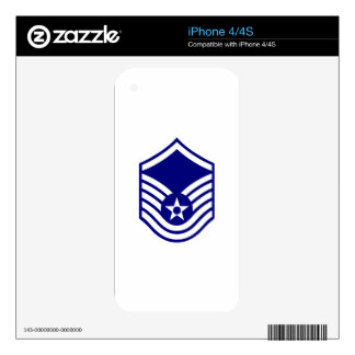 USAF E-7 MASTER SERGEANT iPhone 4S DECAL
