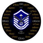 USAF / First Sergeant E-7 Large Clock