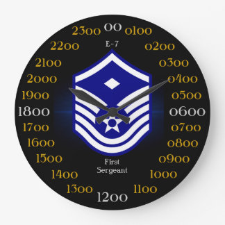 USAF / First Sergeant E-7 Large Clock