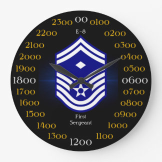 USAF / First Sergeant E-8 Large Clock