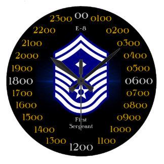 USAF / First Sergeant E-8 Large Clock