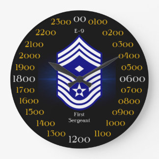 USAF / First Sergeant E-9 Large Clock