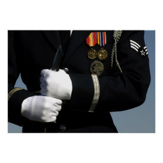 USAF Honor Guard Drill Team Poster