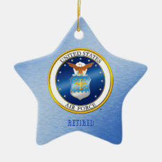 Usaf Retired Ornament at Zazzle